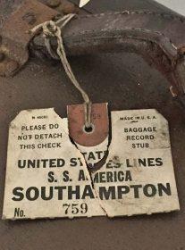 S.S. America luggage tag Southampton