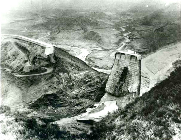 Wreckage of St. Francis Dam