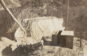 St. Francis Dam construction