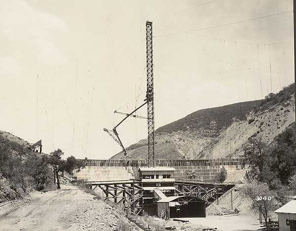St. Francis Dam Construction