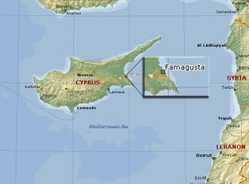 Varosha Famagusta Cyprus map