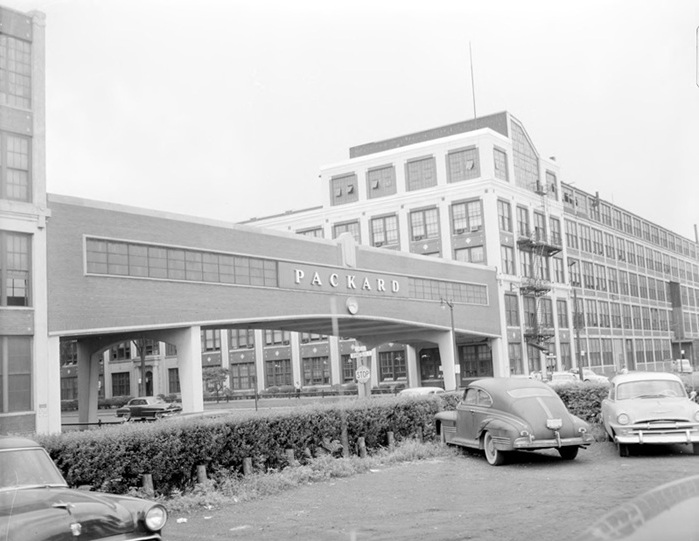 packard factory entrance circa 1940s