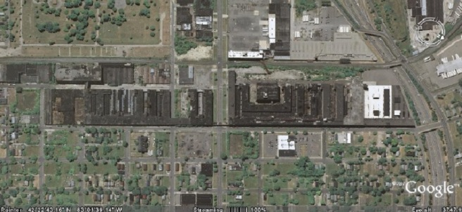 Packard factory aerial view 2011