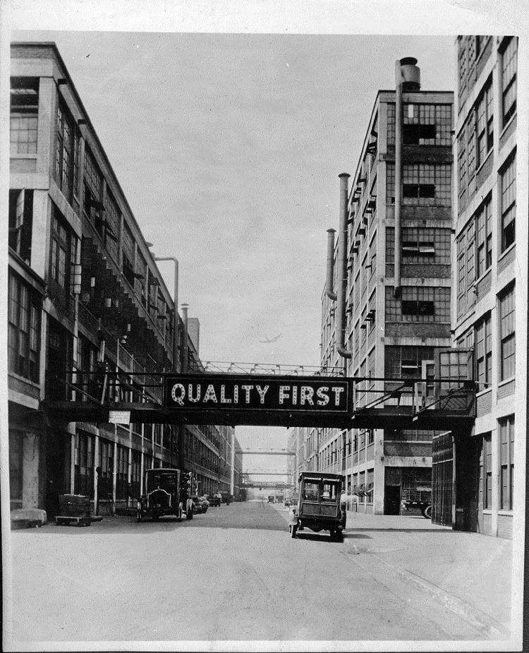 Packard factory circa 1910s