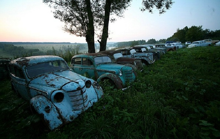 Russian outdoor auto museum
