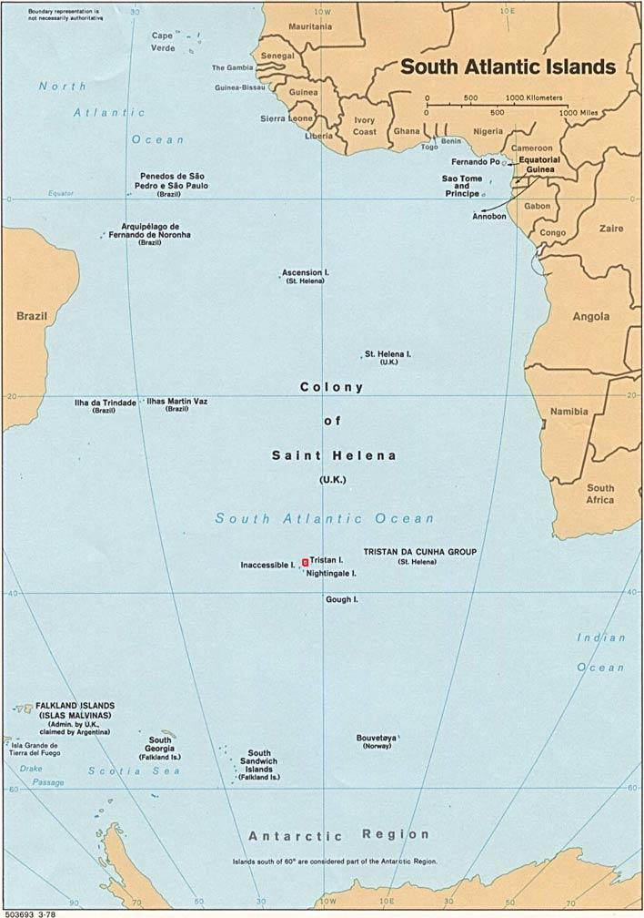 Tristan da Cunha Map