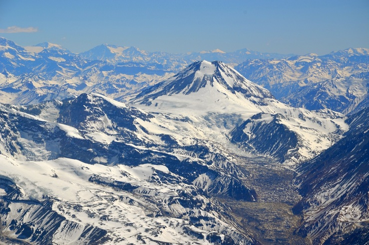 Mount Tupungato of the Andes Range