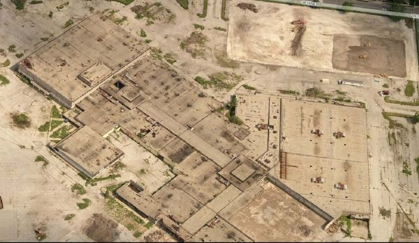 Aerial view of Dixie Square Mall prior to demolition
