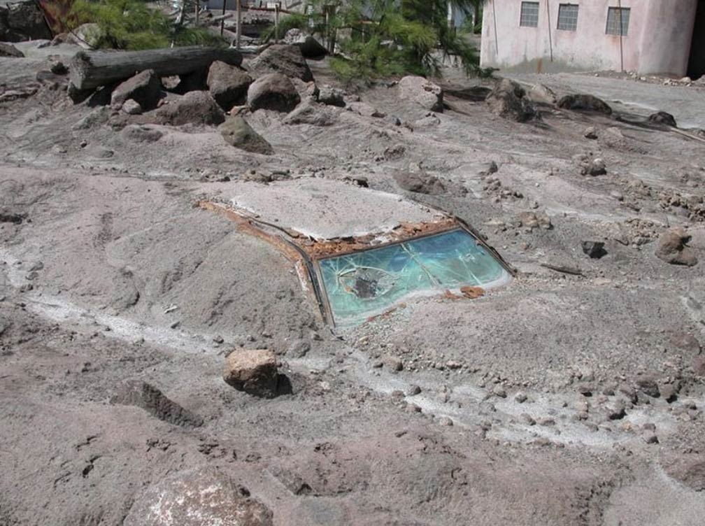 Plymouth Montserrat eruption damage