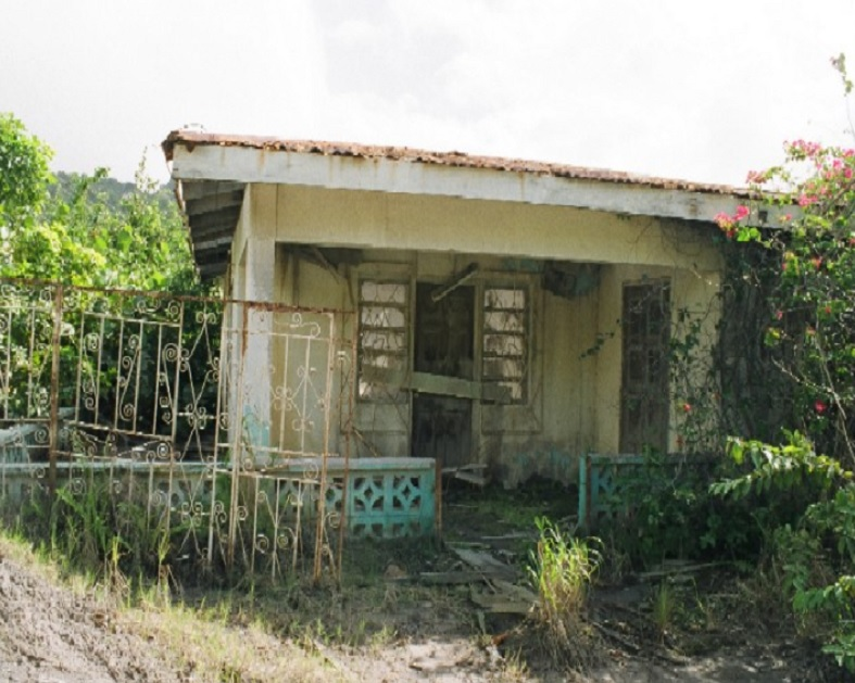 Plymouth Montserrat abandoned houses