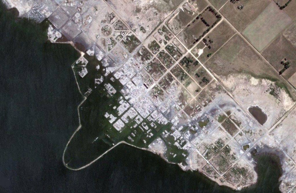 Villa Epecuén satellite view