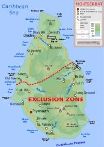 Plymouth Montserrat map
