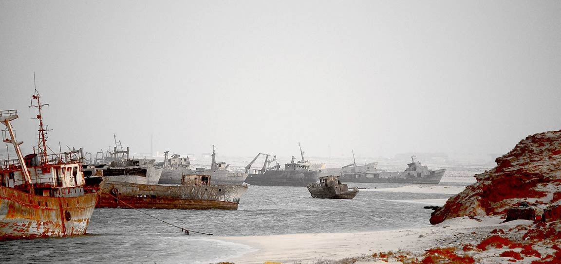 Largest Ship Graveyard in the World: Nouadhibou, Mauritania
