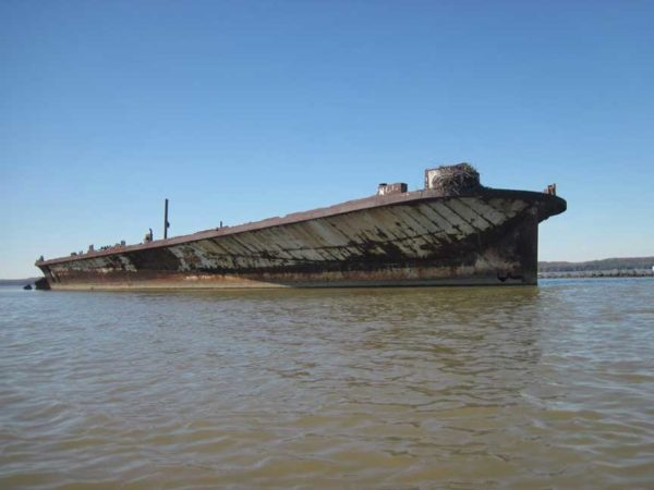The S.S. Accomac abandoned in Mallows Bay