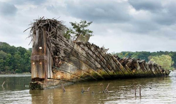 Mallows Bay abandoned ship