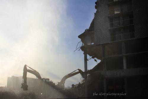 Gary Indiana Sheraton Hotel demolition