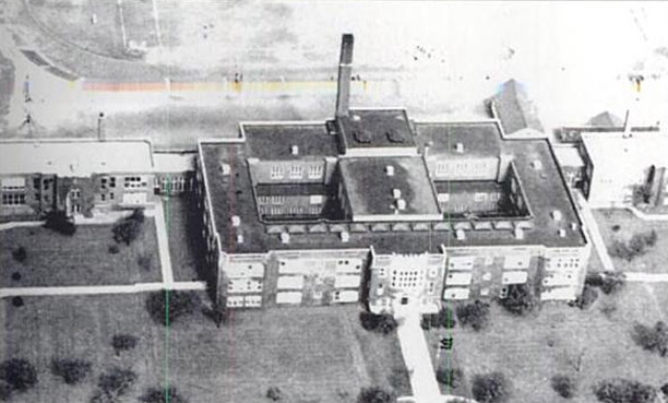 Horace Mann aerial photo, 1946