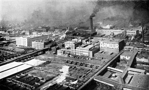original Armour meat packing plant Chicago Illinois 1910