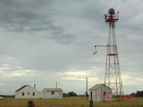 Dubois, Idaho airmail beacon tower & shed