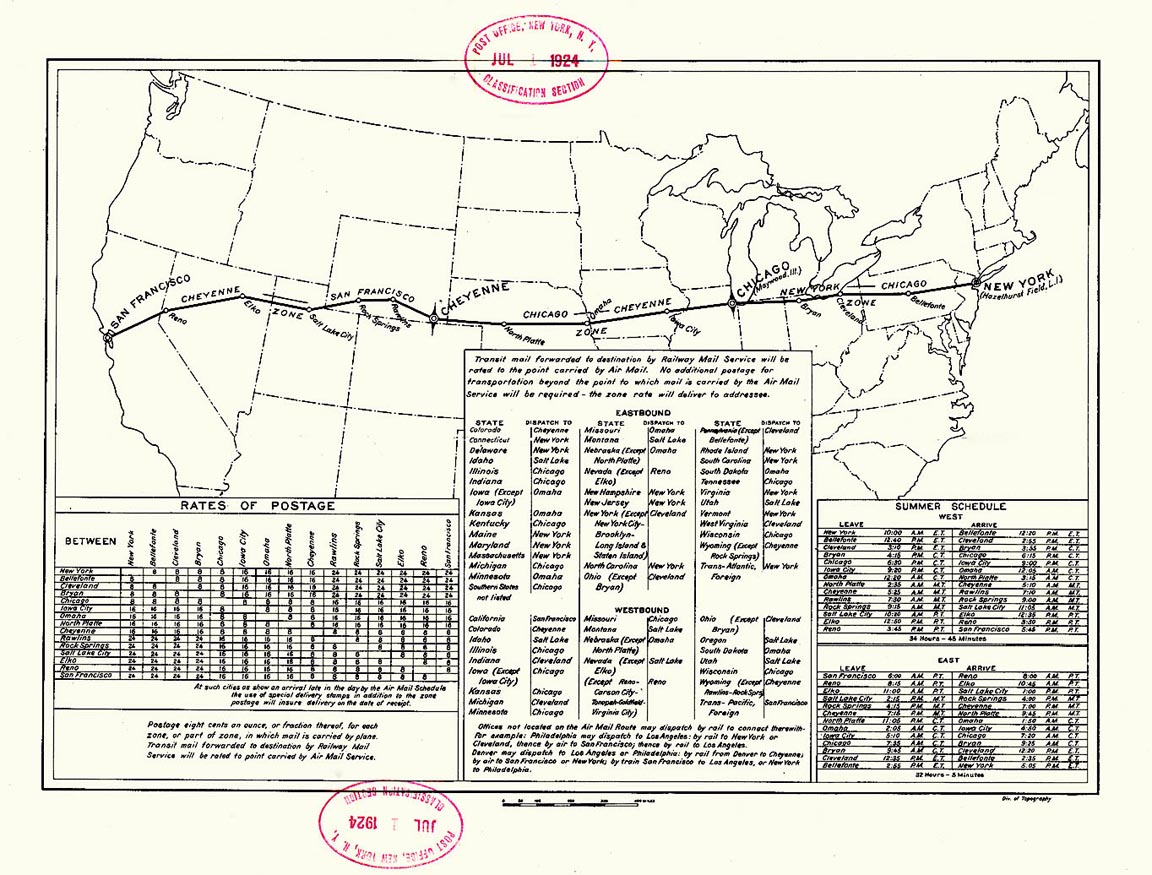 Us Airmail Beacon System Map Concrete Arrows and the U.S. Airmail Beacon System | Sometimes