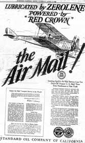 airmail vintage advertisement