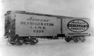 Armour refrigerated car