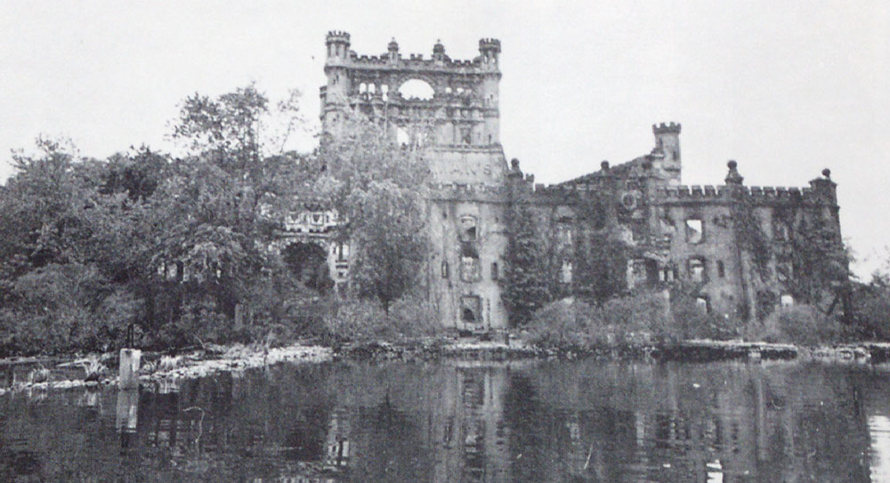 Bannerman Castle after fire