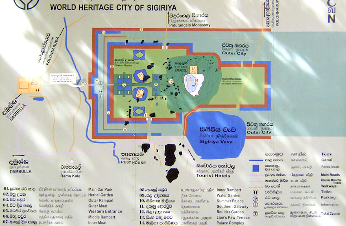 Sigiriya tourism map