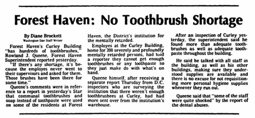 April 1976 Forest Haven article