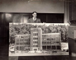 Pressmen's Home president Thomas Dunwoody shows off the new Technical Trade School Building, 1910's.