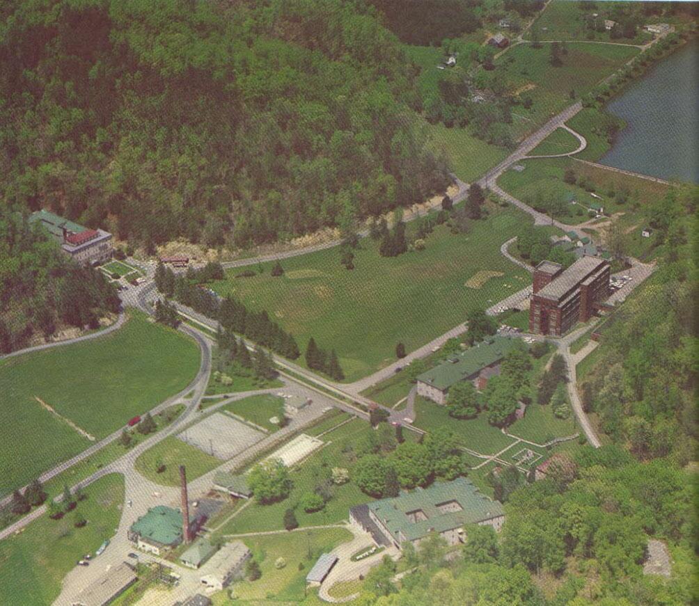 Aerial photo of Pressmens's Home circa 1960's