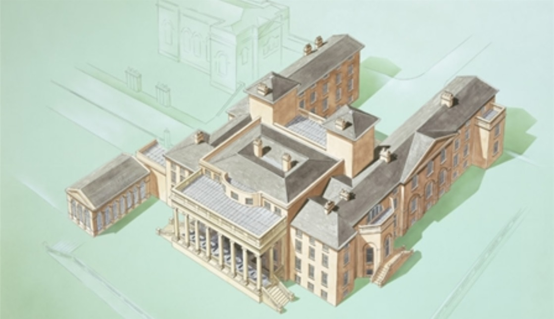 A rendering of the Nash-designed Witley Court