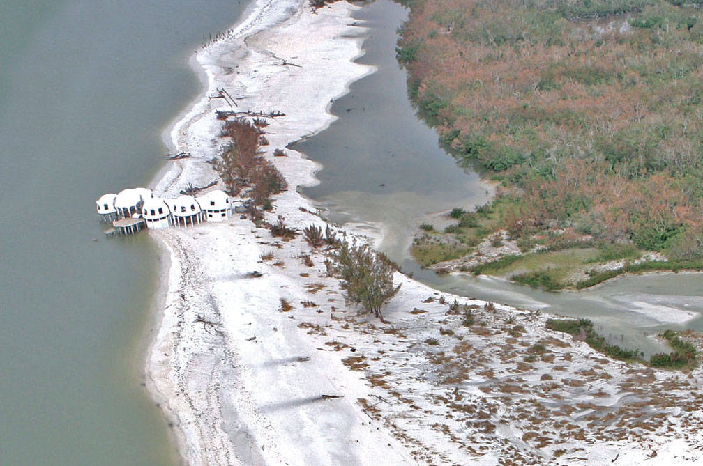 Cape Romano in 2005 after Hurricane Wilma