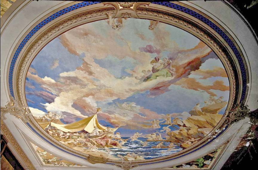 abandoned hospital venice ospedale al mare ceiling mural