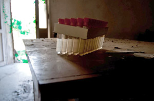 abandoned hospital venice ospedale al mare test tubes