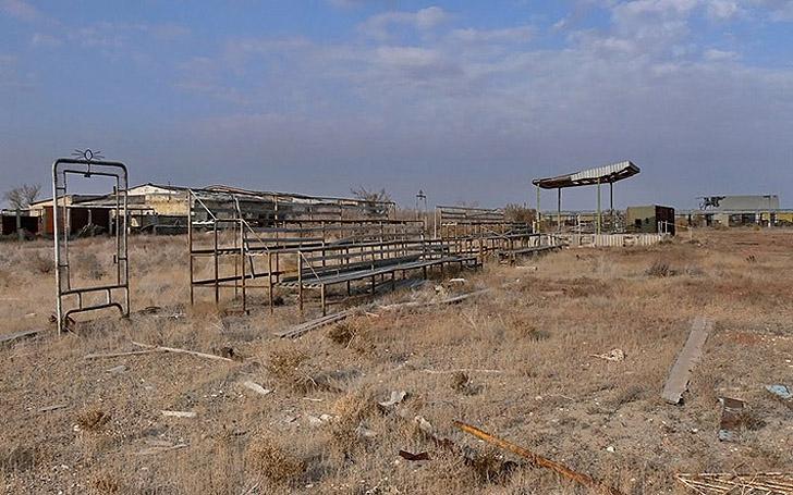 Kantubek Stadium once hosted weekend sporting events.