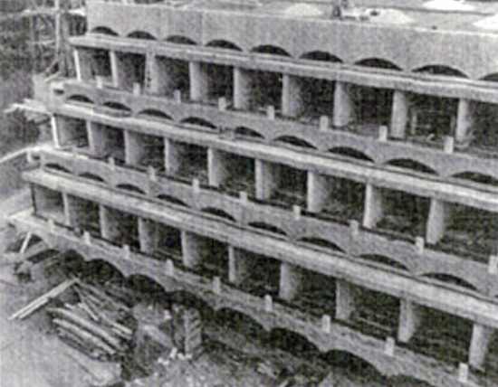 Construction of Main block, 1965