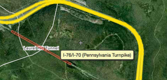 Pennsylvania Turnpike Laurel Hill bypass. Activated