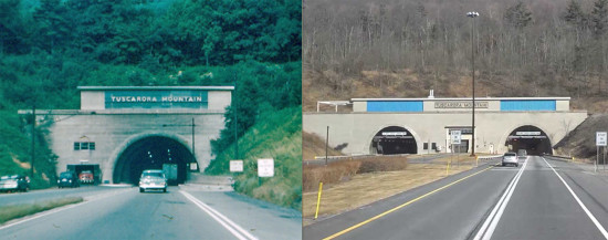 Tuscarora Mountain Tunnel: Before & After