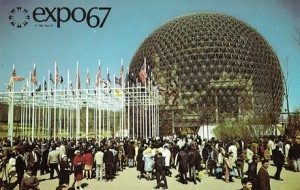 Fuller's Geodesic dome for the U.S. pavilion at EXPO '67 in Montreal