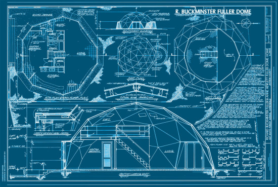 Buckminster-Fuller-dome-home-blueprints