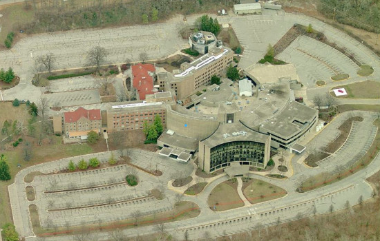 """Old Reid"" Memorial Hospital today"