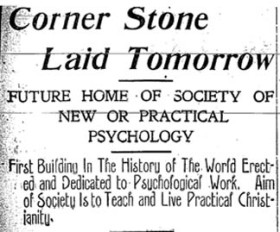 Psychic Temple newspaper article 1905