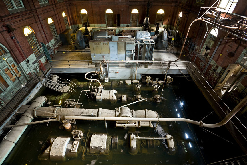 Inside the Hackensack Water Company's abandoned plant