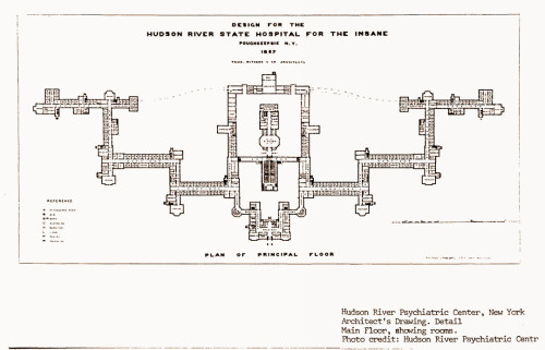 Frank Withers original design for the Hudson River State Hospital for the Insane