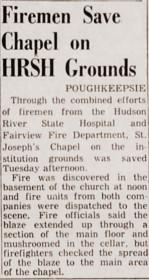 Firemen save Hudson River State Hospital Chapel