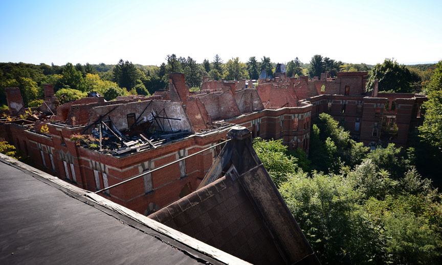 Hudson River State Hospital roofless wings
