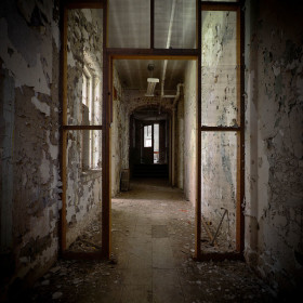 Hudson River State Hospital hallway decomposes