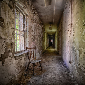 Hudson River State Hospital staff housing hallway