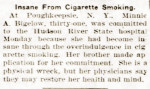 Insane from cigarette smoking